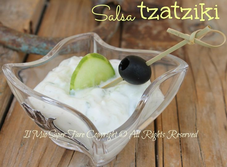 Salsa tzatziki ricetta originale blog il mio saper fare