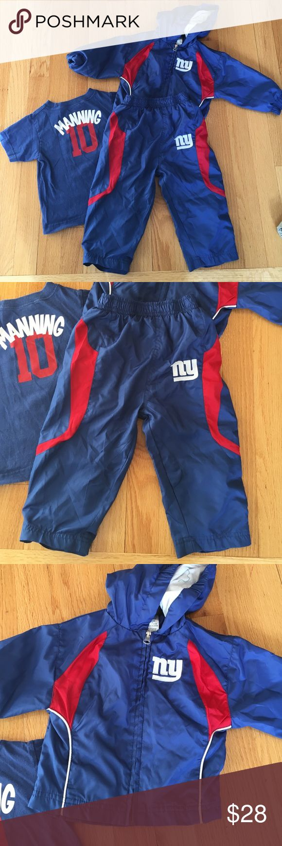 NY Giants track outfit and Manning tee 🔴 The track outfit is in brand-new condition from NFL authentic, 18 months. The T-shirt is a Manning T/New York Giants NFL Matching Sets