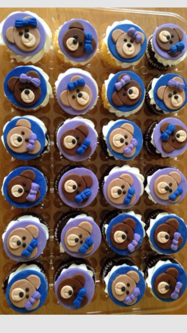 """Reilly's 8th birthday """"friends"""" party at build a bear.  Bear toppers made by aunt Cheryl"""