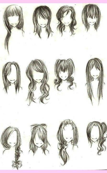 como aprender a dibujar cabello de mujer