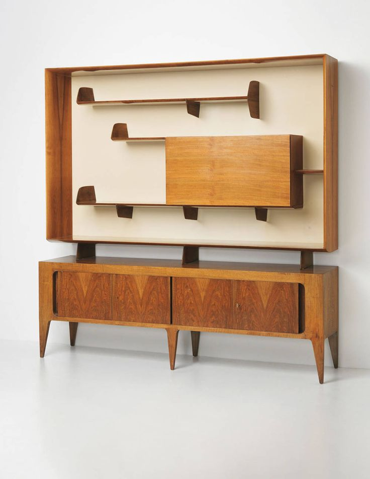Gio Ponti sideboard and bookcase.