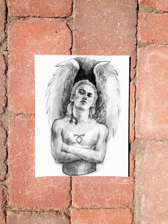 Jace the Angel - A Replica Poster from Clary Fray's Drawing Book in The Mortal Instruments: City Of Bones TMI on Cardstock! on Etsy, $7.00