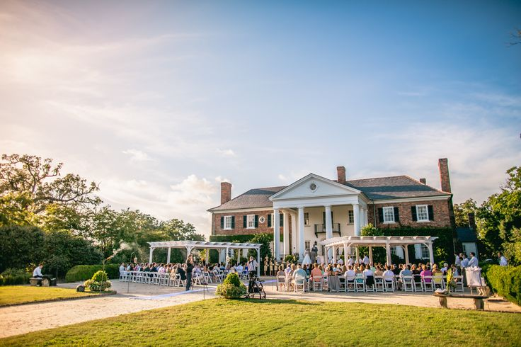Front Lawn Ceremony At Boone Hall Plantation In Charleston