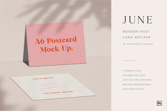 Modern Post Card Mockup Postcard Mockup Postcard Postcard Design