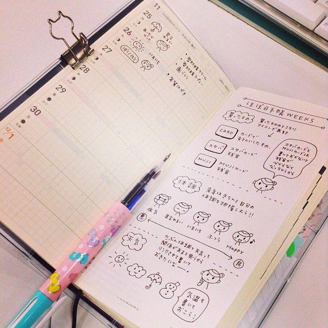 WEEKSのつかいみち。 おしごとの予定がメインだけど、買ったものや体調を書いていこうとおもう。#ほぼ日手帳 - kobopri @ Instagram Web Interface - 5th village