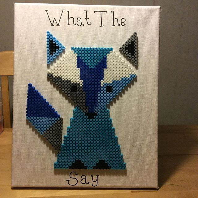 What the fox say hama beads by michelleparlar