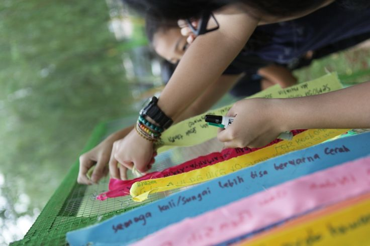 Wish ribbon - what they wish for city park. #Jakarta #Indonesia