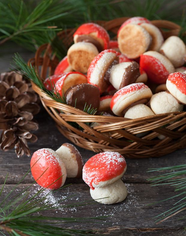 Russian-Mushrooms Shaped Cookies ---Gribochky ~ ~ ~ I've always found these so darn cute!!