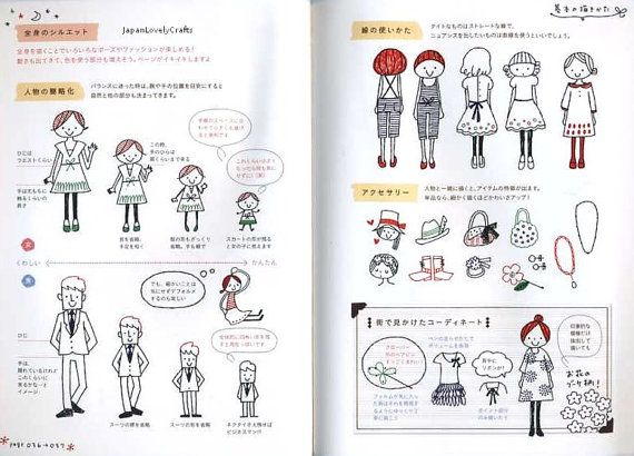 Kawaii 4 colored ball point pen illustration by JapanLovelyCrafts