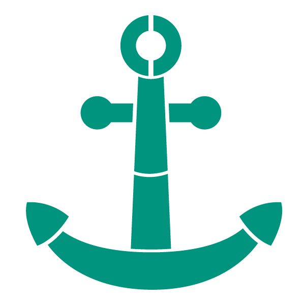 """- anchor stencil - measures 6""""w x 6""""h - self-adhesive nautical wall stencil – stick and paint - individual stencil from the full-room Under the Sea Wall Mural Stencil Kit Full Description This anchor"""