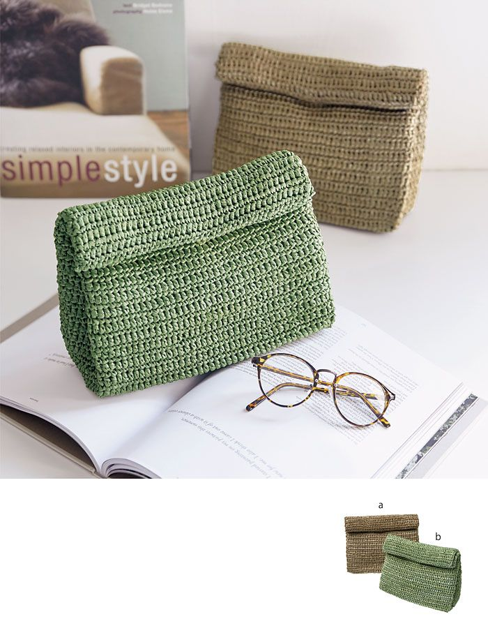 crochet clutch bag (free pattern)