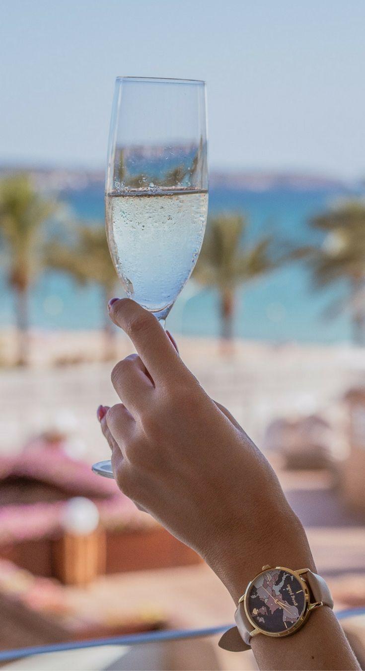 Champagne at the Iberostar Playa de Palma, Mallorca, Spain
