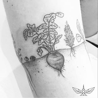 For those who love taking care of their gardens. | 24 Super Cute Tattoos For People Who Are Slightly Obsessed With Food