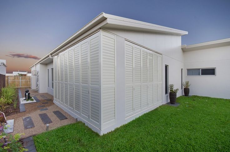 With the Bermuda 2000 Shutters you can blend your patio seamlessly to your home.  Fitted by Blinds For You.  #blinds #shutters