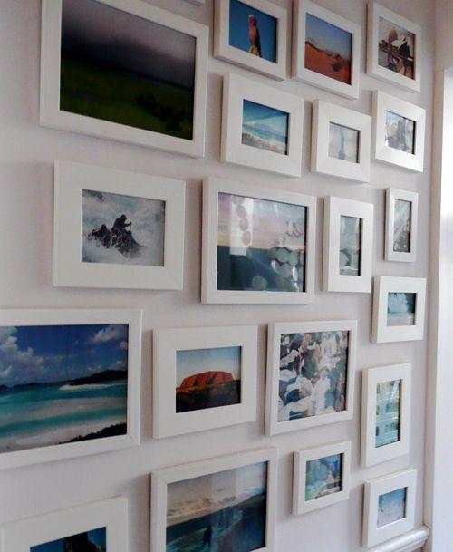 White Frame Photo Wall