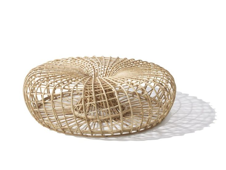 nest rattan coffee table by caneline design foersom - Rattan Coffee Table