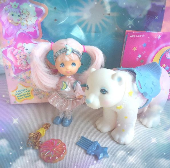 80s Moondreamers Kawaii Love! www.CuteVintageToys.com 💖 Hundreds Of Precious Vintage Toys From The 80s & 90s FOR SALE Now! Use The Coupon Code PINTEREST For 10% Off Your ENTIRE Order! 💌  Dozens of G1 My Little Pony, Polly Pockets, Popples, Strawberry Shortcake, Care Bears, Rainbow Brite, Moondreamers, Keypers, Disney, Fisher Price, MOTU, She-Ra Cabbage Patch Kids, Dolls, Blues Clus, Barney, Teletubbies, ET, Barbie, Sanrio, Muppets, Sesame Street, & Fairy Kei Cuteness.... 💖 💖 💖