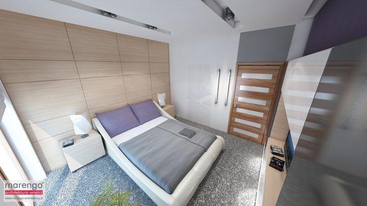 minimalizm w domu w Niepołomicach, sypialnia