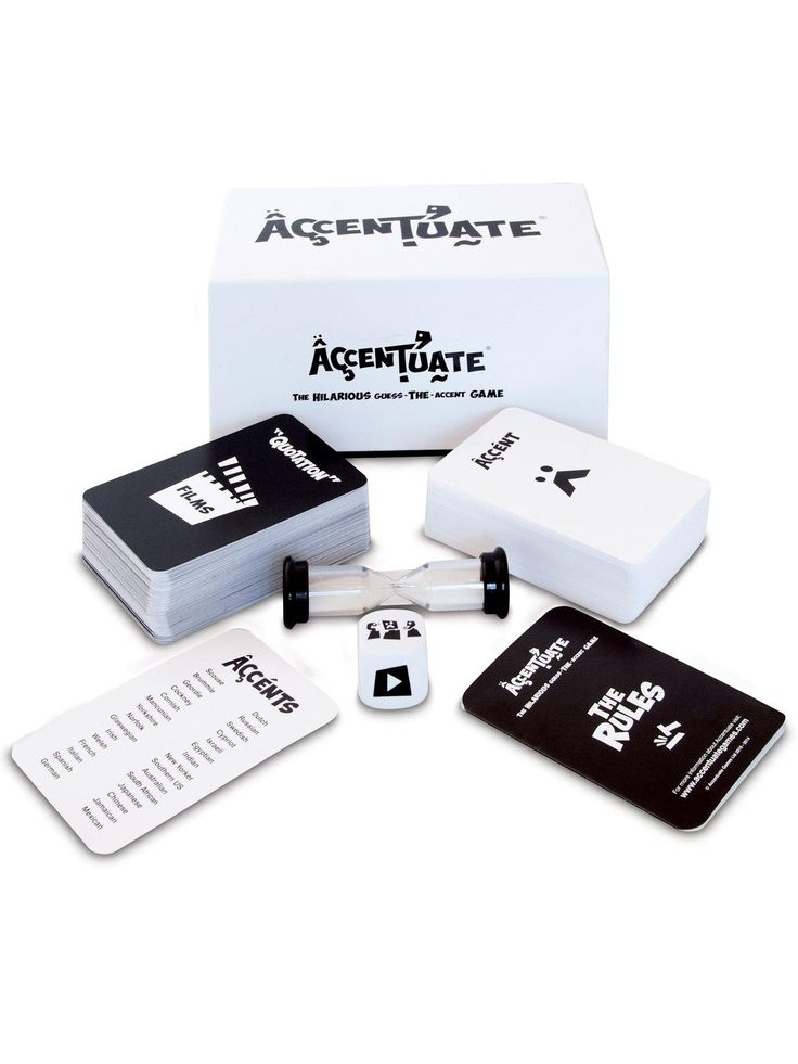 Accentuate is the award winning new guess-the-accent game, developed by Wirral based brother-sister team and launched 2014. It was originally created as a fun party game for close family gatherings and soon realised the widespread appeal from the fun of accents: Can you copy a Cockney, mimic a Mancunian or ape an Australian? If your imitation skills are up to scratch you'll go far with Accentuate, the new party game that will have you squirming with embarrassment! Accentuate boasts a simp...