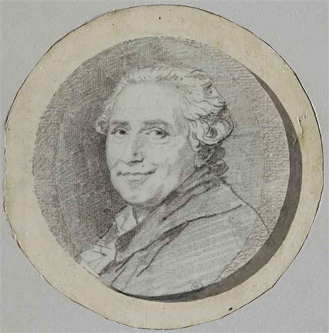 Jean-Honoré Fragonard   Autoportrait, en buste, le visage souriant   c. 1780-1790