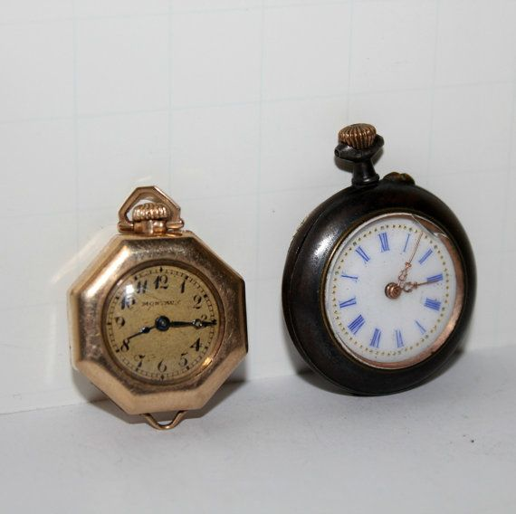 2 antique s pocket watches swiss by