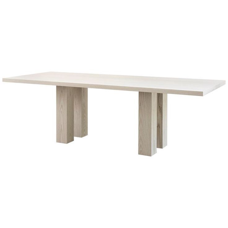 Pure Minimalist Bleached Ash Dining Table By Ameé Allsop