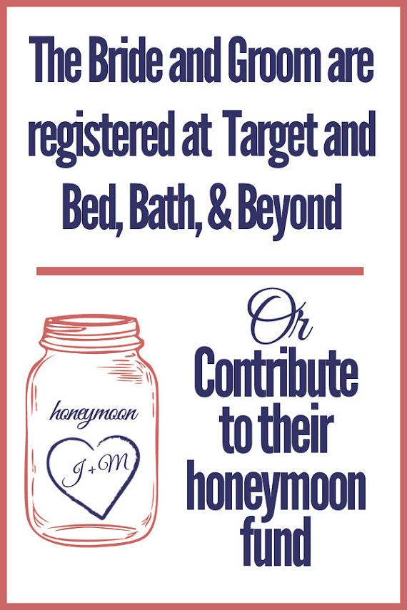 Digital Copy Of Registry Honeymoon Fund Card ShowerHoneymoon RegistryHoneymoon FundWedding ListBridal