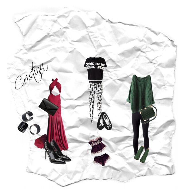 """Cristina's fashion"" by mariapizzuto on Polyvore featuring moda, Lipsy, Avenue, Jockey, Maison Margiela, Aspinal of London, Hervé Léger, Valentino e Balenciaga"