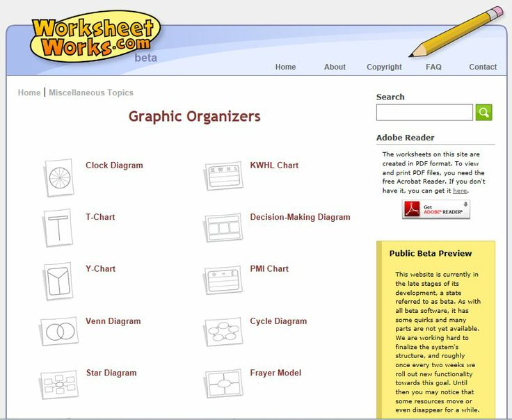 Graphic Organizers from Worksheetworks.com