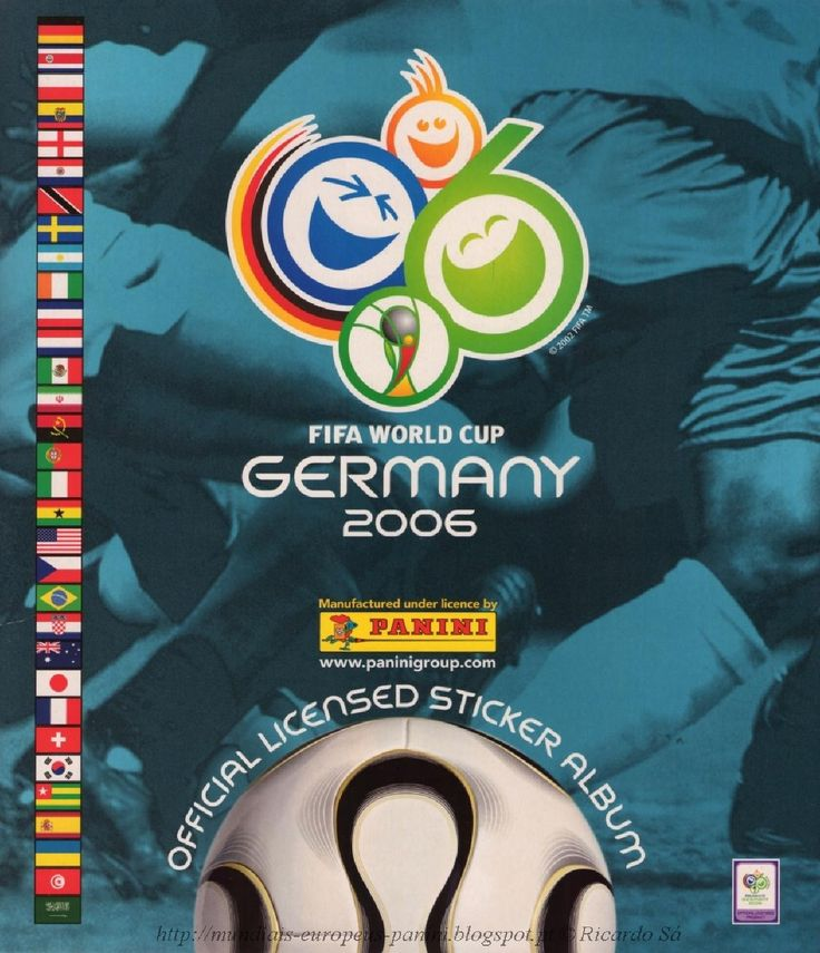 Album of stickers by panini of FIFA World Cup Germany 2006, original and complete. See my blog: http://mundiais-europeus-panini.blogspot.pt » » » Ricardo Sá, Guimarães, Portugal