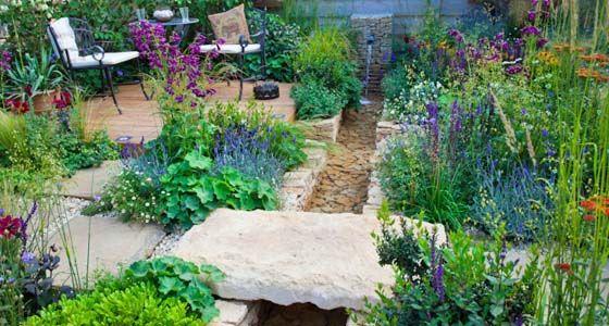 Bachlauf im Garten - Mein schöner Garten