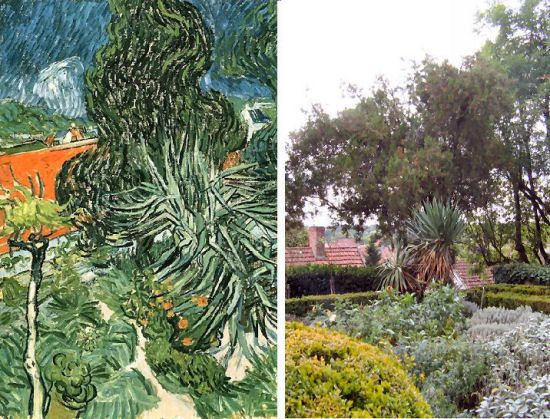 Dr Gachet's garden painted by Vincent van Gogh in 1890