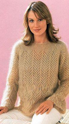 Воздушный пуловер спицами схема. Ажурный пуловер спицами | Все о рукоделии: схемы, мастер классы, идеи на сайте labhousehold.com