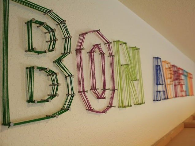 11 best images about art ideas on pinterest abstract for Diy yarn wall art