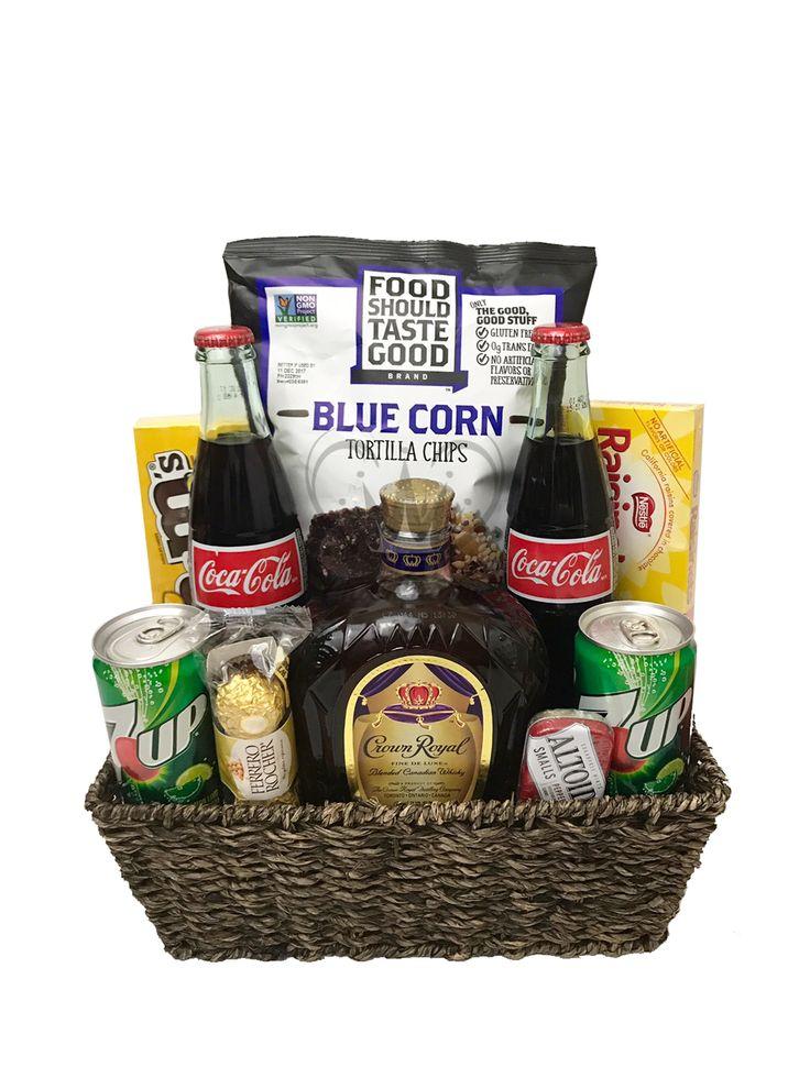 Crown royal gift basket champagne life gift baskets