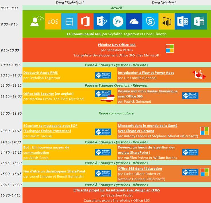 Agenda  Journée aOS Aix-en-Provence du 6 septembre 2016
