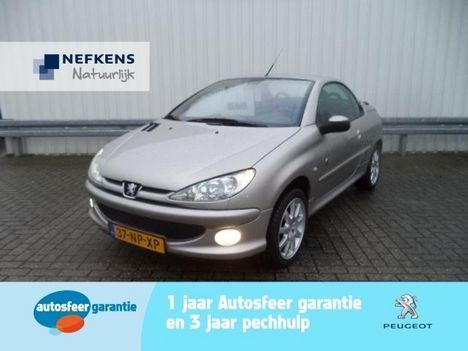 PEUGEOT 206 CC 1.6 Cabrio, Automaat,Leer, UN €6.950