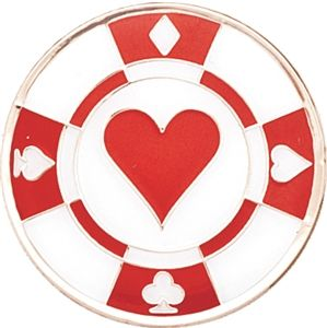 Mark Your Spot Diamond Poker Chip Ball Marker! Perfect for casino night!