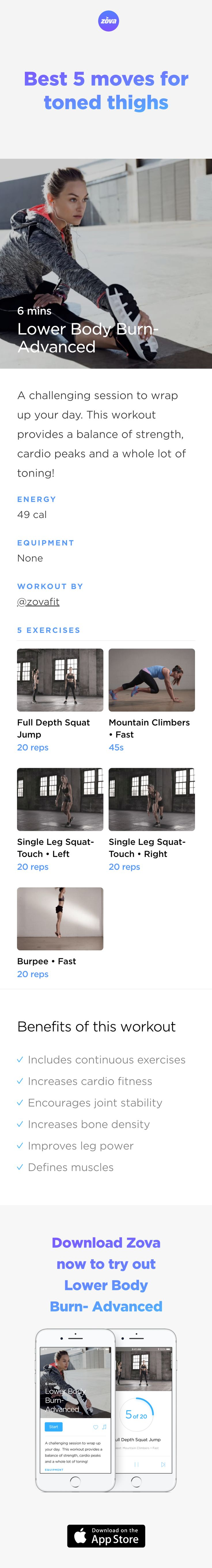 You don't need to punish your legs with hours on the treadmill. Just give your thighs the love they deserve! These five effective yet easy moves will help tone your legs and define your muscles. They don't require equipment so you can do them outside, in your lounge room or in your office. Easy! #legs #butt #workout #fitness #HIIT #fullbody #sweat #strength #bodyweight