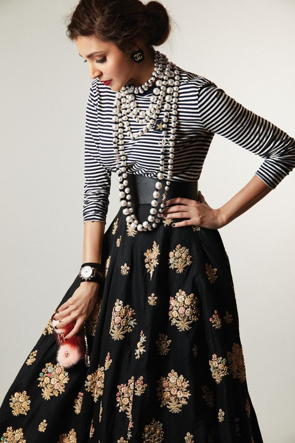 Elle India | Anushka Sharma plays muse to Sabyasachi Mukherjee