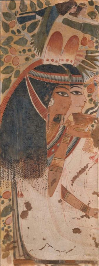 Userhet's wife and Mother, tomb of Userhet, tomb 56, Thebes, 18th Dynasty