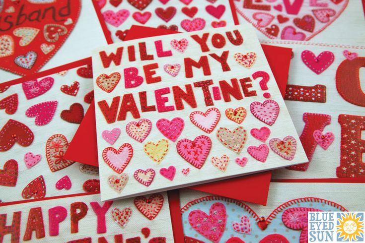 Gorgeous Valentine's Day cards by Blue Eyed Sun