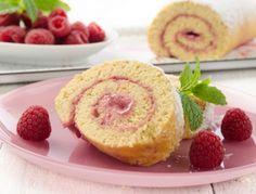 Biskutirouladen sind schnell gebacken und bei jedermann beliebt. Himbeerroulade …