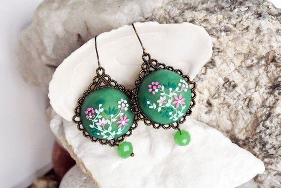 13ca6d213 Green Succulent Plants Stud Earrings, bridesmaid gift Mini Small Unique  Realistic Garden Echeveria Earrings Studs Succulent Plants Favor | Products  ...