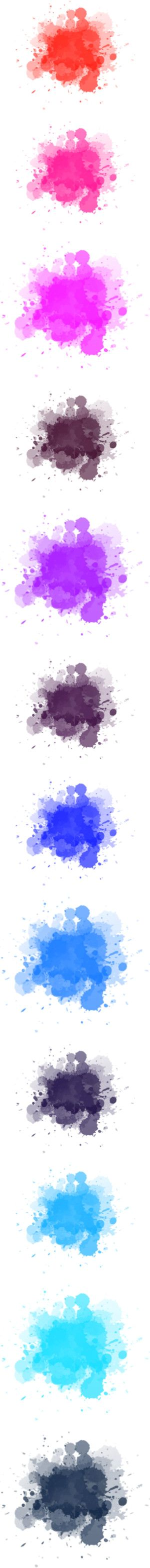 """""""Watercolor Splashes"""" by neamisra ❤ liked on Polyvore"""