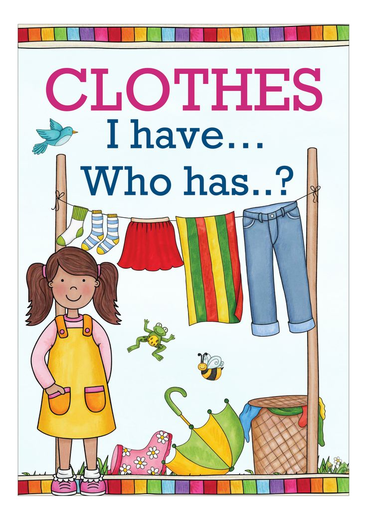 I have  Who has ? CLOTHES - Unterrichtsmaterial im