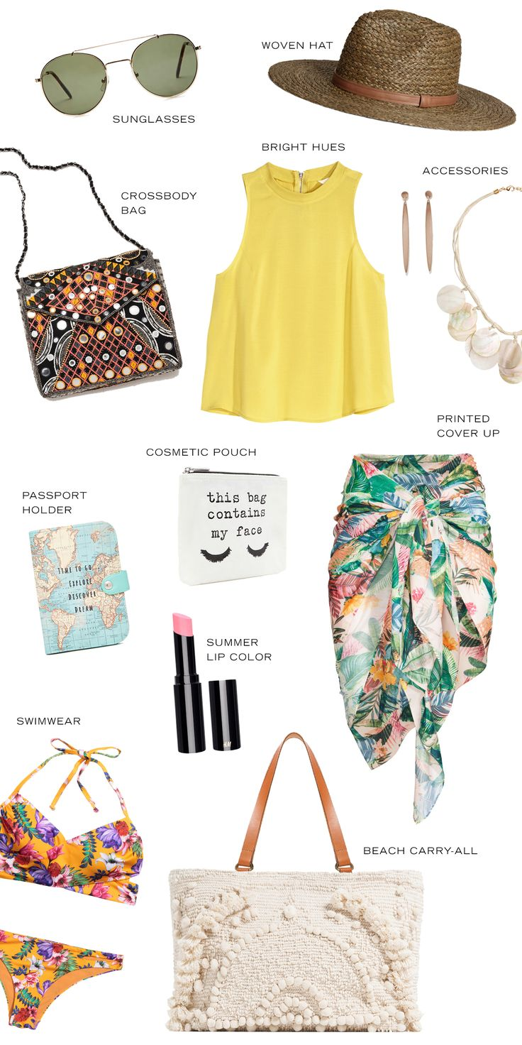 Travel Style: Disney Caribbean Cruise | Packing list for your next Caribbean tropical summer vacation | [ https://style.disney.com/living/2016/05/11/travel-style-disney-caribbean-cruise/ ]