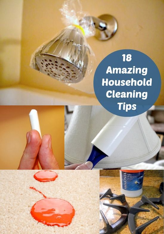 18 Amazing Household Cleaning Tips! #diy