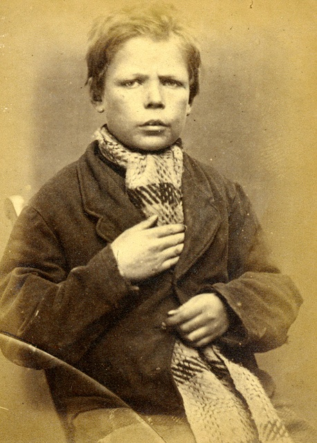 At the young age of 14, Henry Miller was charged with the theft of clothing and sentenced to 14 days hard labour for his crime. Age (on discharge): 14 Height: 4.5 Hair: Brown Eyes: Blue Place of Birth: Berwick Married or single: Single Occupation: Confectioner These photographs are of convicted criminals in Newcastle between 1871 - 1873.