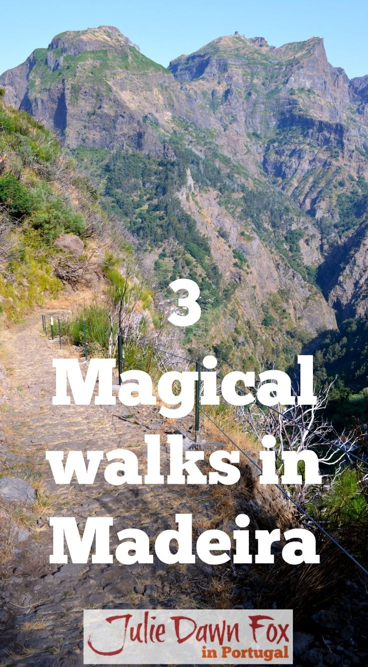 3 Magical walks in Madeira ranging from an easy 3km stroll to Balcões to a moderate.10 km levada walk to the 25 Fontes, or springs. The one in the photo is the walk down into Nun's Valley, aka Curral das Freiras, where nuns eventually tired of running to escape from pirates and bandits and settled. Find out more by clicking on the image.